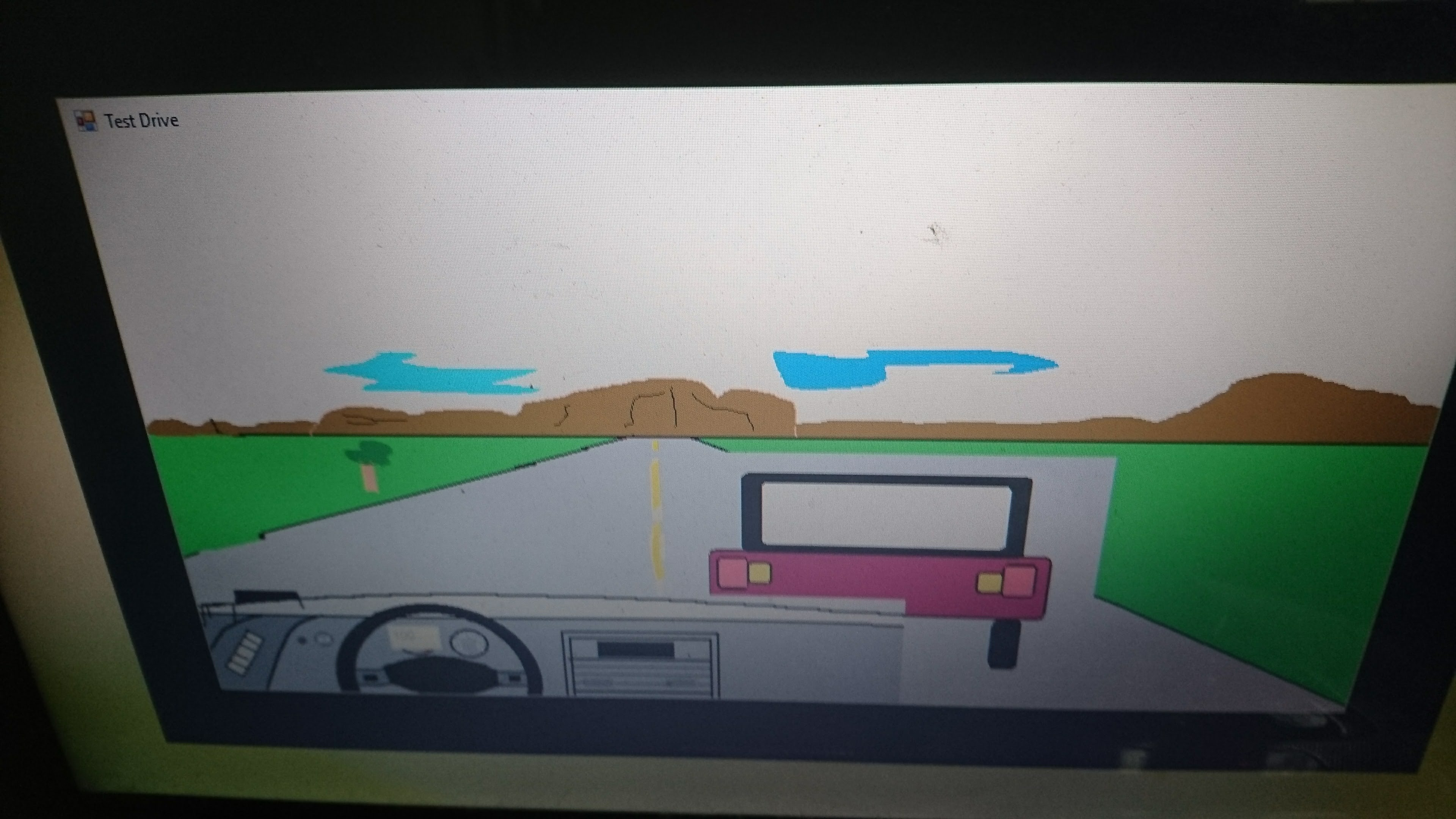 Test Drive video on the Simulation and Game showing driving and overtaking . The code is available at http://codeengineeeringcomputerworks.com . Programmed and Published by Prof Dr Chan Junt Hoong FIET FIEEE BEng CEng .